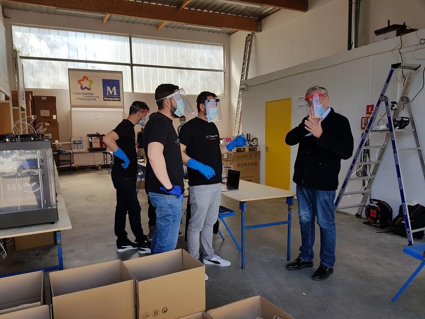 la Ville de Montpellier et Montpellier Méditerranée Métropole créent une unité locale de fabrication de visières à Cournonsec